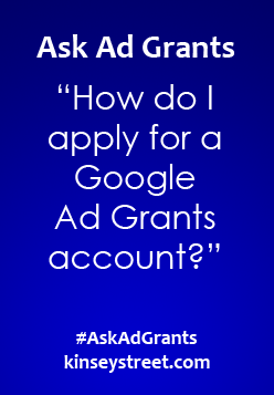 How do I apply for Google Ad Grants?